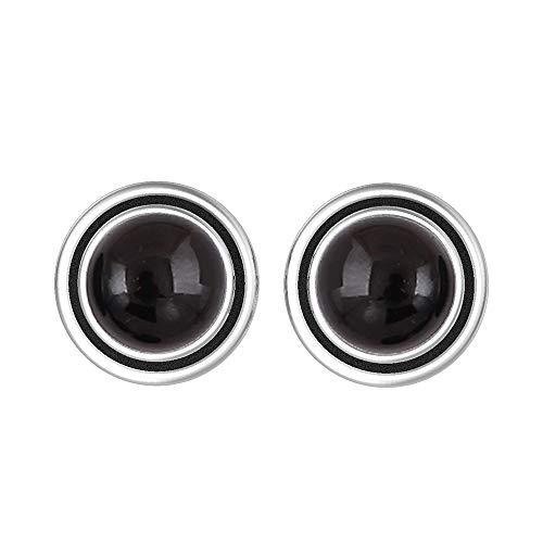 Genuine 7mm Round Shape Black Onyx Stud Earrings 925 Silver Plated Handmade Stud Earrings Jewelry For Women Girls