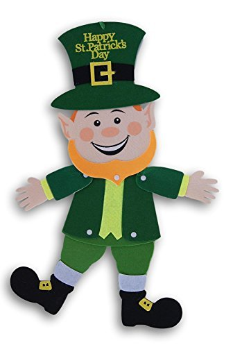 Saint Patrick's Day Decor ~ Jointed Felt Leprechaun Hanging Decoration
