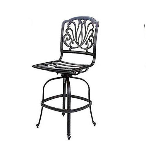 K&B PATIO LD777-7S Elizabeth Armless Bar Chair with Cushion, 30