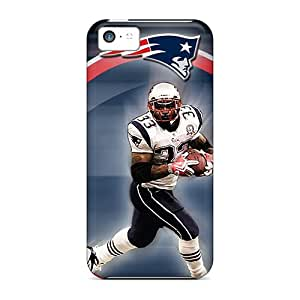 Rugged Skin Case Cover For Iphone 5c- Eco-friendly Packaging(new England Patriots)