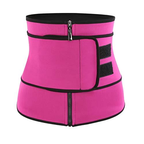 Lovhop Women Plus Size Waist Trainer Tummy Belt Body Shaper Adjustable Hourglass Stomach Fat Burner Workout Weight Loss Bandage S-2XL