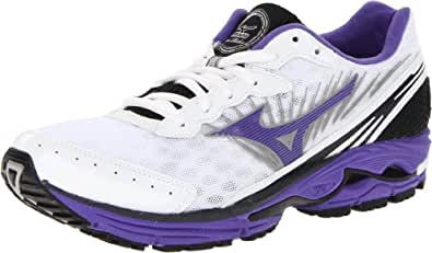 Mizuno Women's Wave Rider 16 Running Shoe,White/Ultraviolet,11 B US