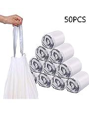 Mainstayae Drawstring Garbage Bag Strong Thicken PE Heavy Duty Drawstring Trashes Bag Home Kitchen Bedroom Rubbish Bags