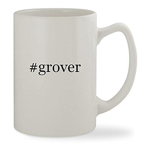 #grover - 14oz Hashtag White Statesman Sturdy Ceramic Coffee Cup Mug (Tag Junior Books Thomas)