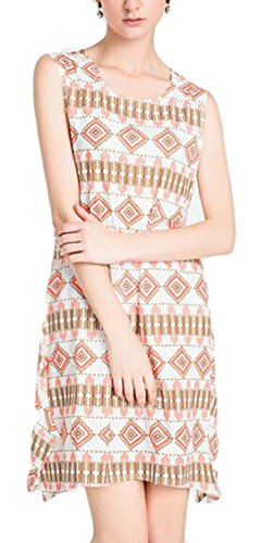 Womens Dress Summer Digital Printed Sleeveless Crewneck Midi 2 Bodycon Jaycargogo qwAvdq