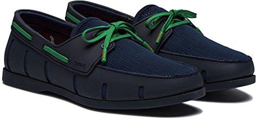 Simmar Mens Båt Loafers Marinen / Grön