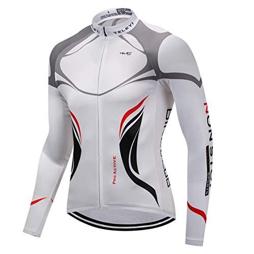 Shenshan Sports Cycling Long jersey Men Bike clothing Spring Autumn MTB Long Sleeve Shirts Racing Black Gear