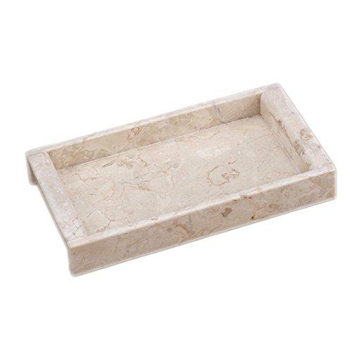 Rectangular Handled Tray - Creative Home Internal Champagne Marble Rectangular Side Handled Tray
