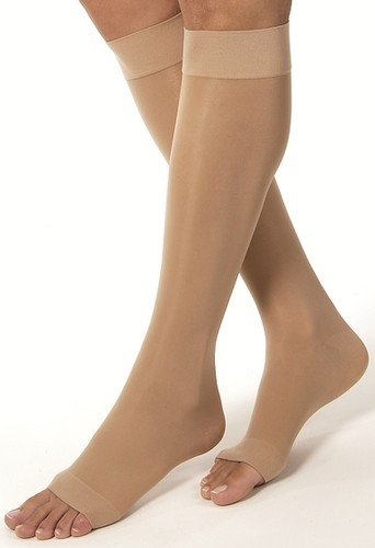 201ac63cb9 Image Unavailable. Image not available for. Color: Jobst Ultrasheer 20-30  mmHg Open Toe Knee High Firm Compression Stockings