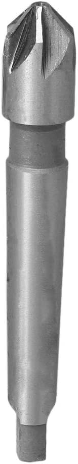 BQLZR 14mm Edge Diameter 90 Degree Steel 6 Flute Taper Shank Countersink Drill Bit Deburring Tool for Wood Quick Change Bit Silver