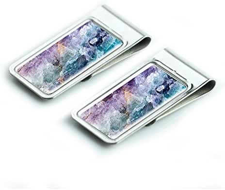 Lizimandu Silver Stainless Steel Slim Money Clip, Cash Money Clip Credit Card Holder