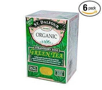 Green-Strawberry Rose Tea (Organic) St. Dalfour 25 Bag