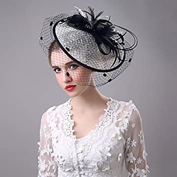 a4c62137cea70 Clothing, Shoes & Accessories Tulle Feather Net Fascinators Hats ...