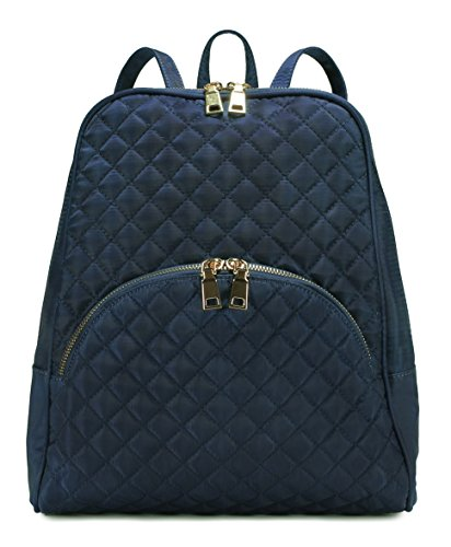 Scarleton Chic Casual Quilted Backpack H160819 - Navy S (Sports Quilted Backpack)