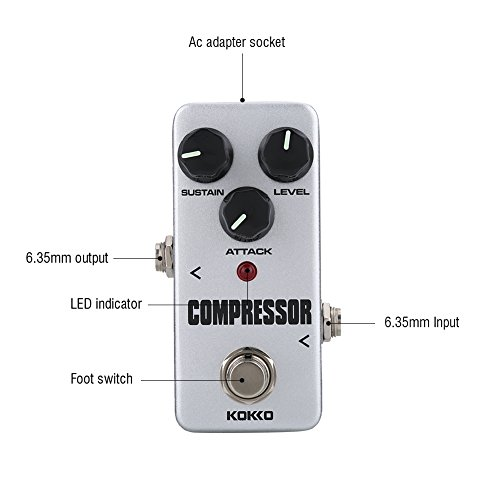 Guitar Compressor Pedal FCP 2 Mini Compressor Guitar Effects Pedal for Electric Guitar Accessories by Vbestlife
