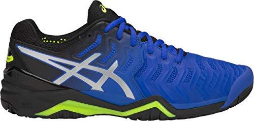 ASICS Gel-Resolution 7 Men's Tennis Shoe, Illusion Blue/Silver, 10.5 D US