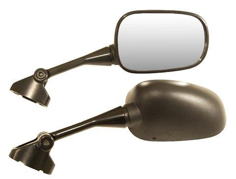 Honda Vfr800 Mirror - Emgo Mirror Left Black for Honda VFR800 Interceptor 02-08