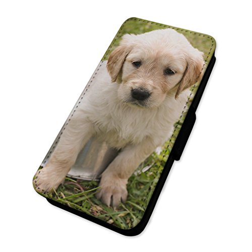 Cute Labrador Puppy Dog–Custodia ad aletta in pelle copertura di carta Apple Iphone 6 Plus/6s Plus