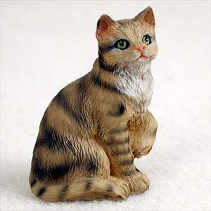 Shorthair, Brown Tabby Tiny Ones Cat Figurines (2 in)