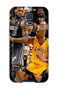 Awesome Case Cover/galaxy S5 Defender Case Cover(sports Nba Basketball Lebron James Kobe Bryant Los Angeles Lakers Miami Heat )