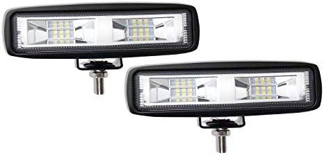 39bab9eee658 LED Light Bar 6 inch Cool White Led Pods Off-Road Light Bar 6500K Flood  Driving Lights Driving Lamps White Led Work Light Bar for SUV ATV Truck  Garden ...
