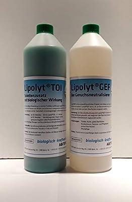 Lipolyt TOI - Limpiador de olores para inodoro móvil y eliminador ...