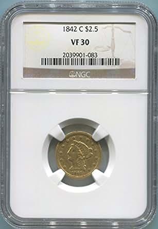 1842 C $2.50, Gold (Pre-1933) VF30 NGC