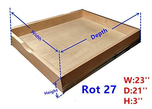 (Cabinet Roll Out Trays Wood Pull Out Tray Drawer Boxes Kitchen Cabinet Organizers, Cabinet Slide Out Shelves, Pull-Out Shelf, Include 2 Pack Full Extension Side Mount Sliders 2 Rear Mounting Brackets)