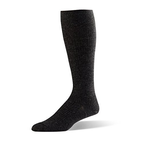 Dr. Comfort Shape to Fit Men's Wool Dress Compression Socks 10-15 mmHg, Charcoal/Black, Medium