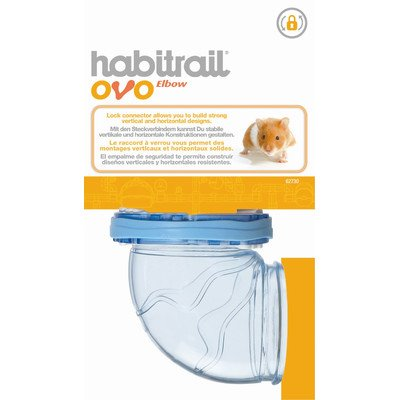 Habitrail Ovo Elbow-Shaped Hamster Tube [Set of 4] (Elbow Habitrail)
