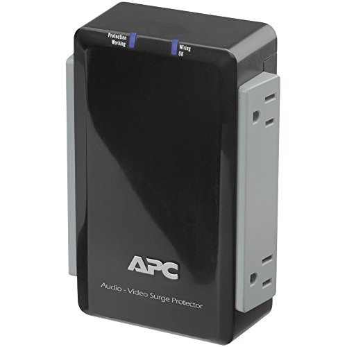 APC P4V Wall-Mount Surge Protector with Coaxial Protection (4 Outlet) from APC