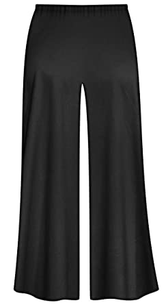46d59d90110 Sanctuarie Designs Black Poly Cotton Jersey Knit Wide Leg Plus Size  Supersize Palazzo Pants S