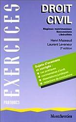 Droit civil,. Régimes matrimoniaux, successions, libéralités