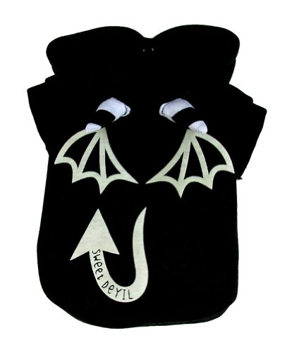Sweet Devil Costumes (Genda 2Archer Black Sweet Devil Dog Hoodie Coat Adorable Pet Costume Clothing for D)