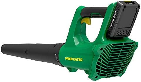 Weed Eater WE20VB, 20-Volt Cordless 265 CFM 85 MPH Handheld Leaf Blower Sweeper includes battery
