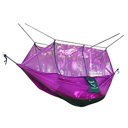 Taffeta Net - Camping Hammock With Mosquito Net And Pouch, Lightweight Nylon Portable Hammock, Best Parachute Hammock For Games Travel/Camping/Indoor/Outdoor