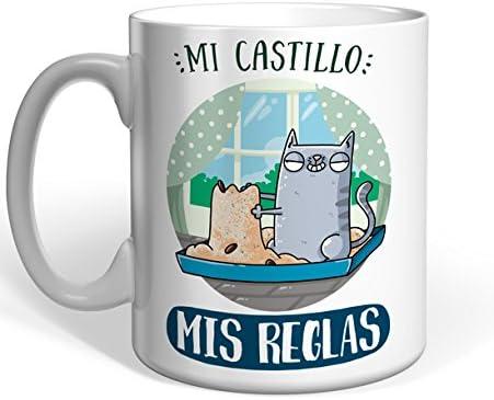 Taza Missborderlike - Gato Común europeo - Mi castillo, mis reglas: Amazon.es: Hogar