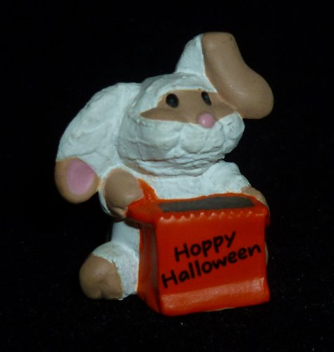 Hallmark Merry Miniature Hoppy Halloween Bunny Rabbit Mummy Figurine -