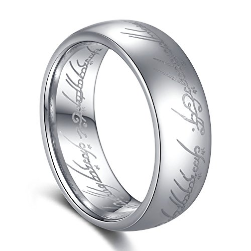 TUSEN JEWELRY Lord of The Rings Silver Color Tungsten Ring Size 7 by TUSEN JEWELRY (Image #7)