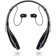 Bluetooth Headphones, AICase Sport Neckband Magnetic Stereo Headset Bluetooth 4.0 Headphones Headset Stereo Earphone Retractable Earbuds w/ Mic (Black)