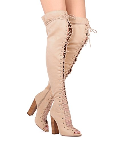 Alrisco, Ecopelle, Camoscio, Finto, Camoscio, Plateau, Stringato, Tallone - Hg18 By Liliana Collection Nude Faux Suede