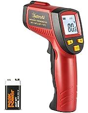 AstroAI Digital Laser Infrarot Thermometer, Berührungslos Temperaturmessgerät IR Pyrometer LCD Beleuchtung Temperaturmesser -50 bis +380°C, Rot