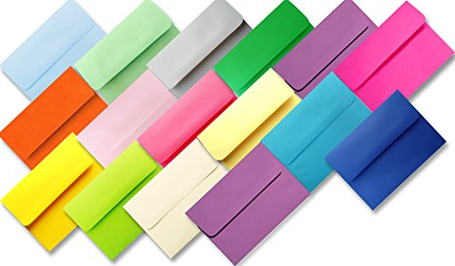 Assorted Multi Colors 25 Pack A7 Envelopes for 5 X 7 Greeting Cards Invitation Wedding Announcement from The Envelope Gallery