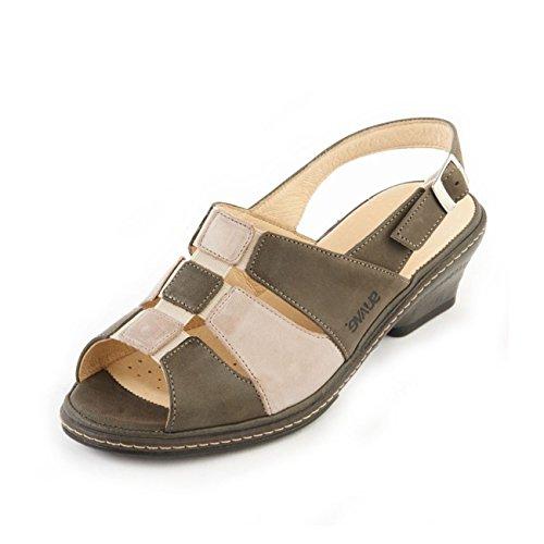 Suave - Sandalias de vestir para mujer Olive Beige