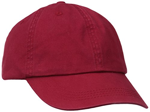 - Alternative Men's Basic Chino Twill Cap, Red, One Size