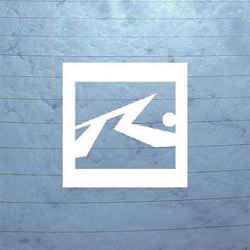 Vinilo de ventana coche oxidado Casco Blanco Art Auto portátil Decor Adhesivo Macbook Home Decor Tabla