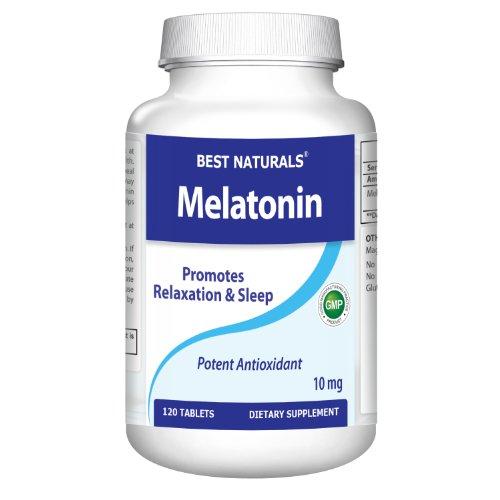 # 1 mélatonine 10 mg 120 Tabs - Force maximale - pour une efficacité rapide dissous début - Tous Supplément Naturals Sleep Aid - fabriqué dans une usine certifiée GMP et USA Based tiers Testé pour la pureté. Garanti !!