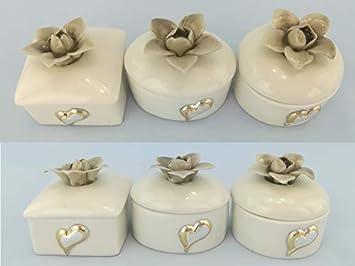 Bomboniere Matrimonio Ceramica.Bomboniere Matrimonio Scatoline Porta Gioie In Porcellana 90
