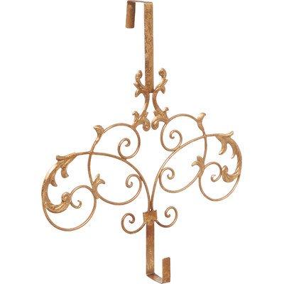 Formal Scroll Wreath Holder Door Mount