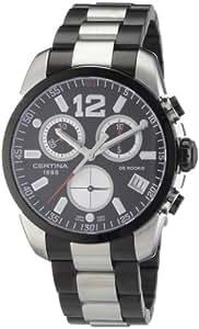 Certina Certina DS Rookie C016.417.22.057.00 - Reloj cronógrafo de caballero de cuarzo con correa de acero inoxidable gris